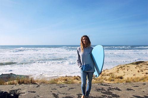 Sweat Ocean Vibes Gris - poche Bleue