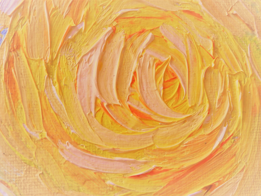 Sun Burst rose-a la Van Gough