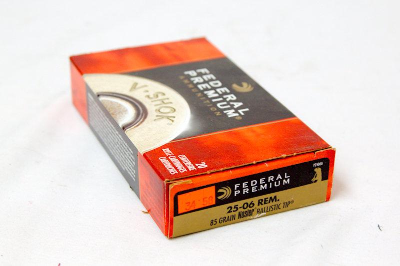 Federal Premium 25-06 Rem 100gr Nosler Tip