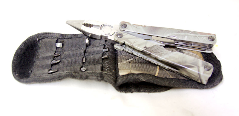 Used Camo Multi-tool with case and extra bits