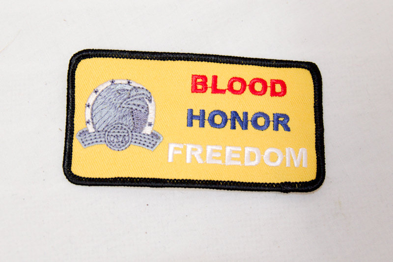 """Blood Honor Freedom"" Sew/iron on patch"