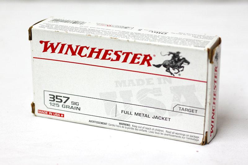 Winchester .357sig 125gr FMJ