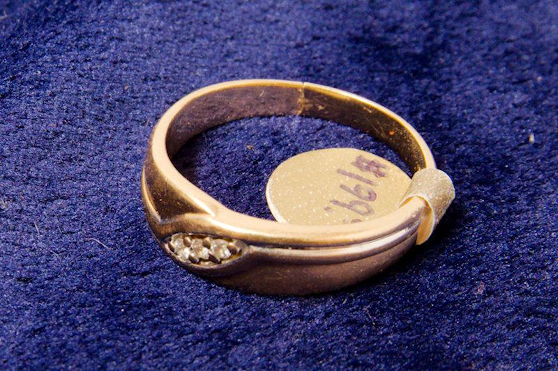 14k Gold 3 diamond Mens Ring size 10