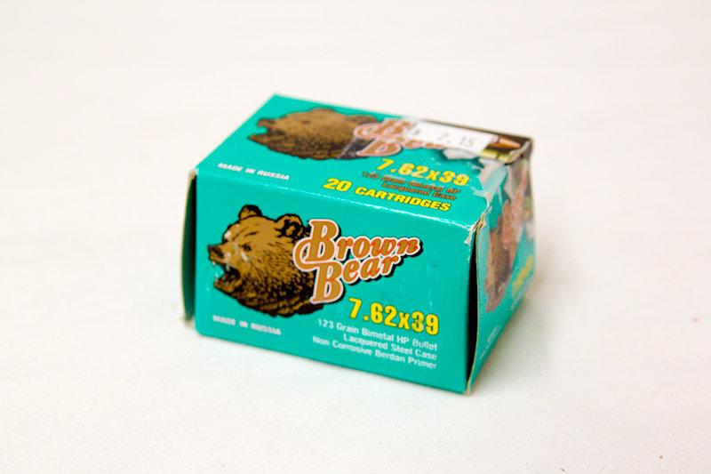 Brown Bear 7.62x39 123gr HP