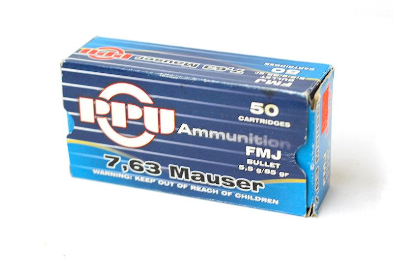 PPU 7.63 Mauser 85gr FMJ