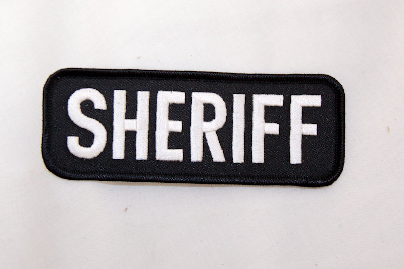 "Sheriff"" Sew/iron on p"