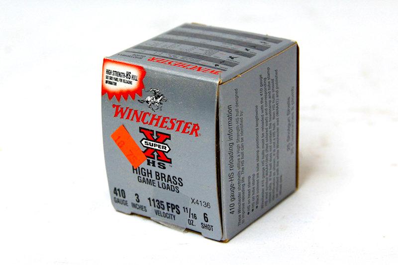 """Winchester 410ga 3"""" 11/16oz #6 shot"""