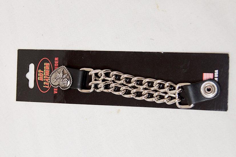 Rose/Heart Leather/Chain Vest Extender