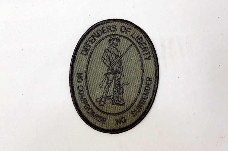 """Defenders of Liberty"" Sew/Iron on patch"