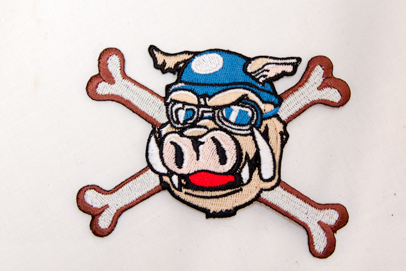 """Crossbone Hog"" Sew/Iron on patch"
