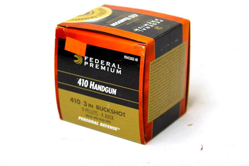 "Federal 410Hangun 3"" 9pellet #4buckshot"