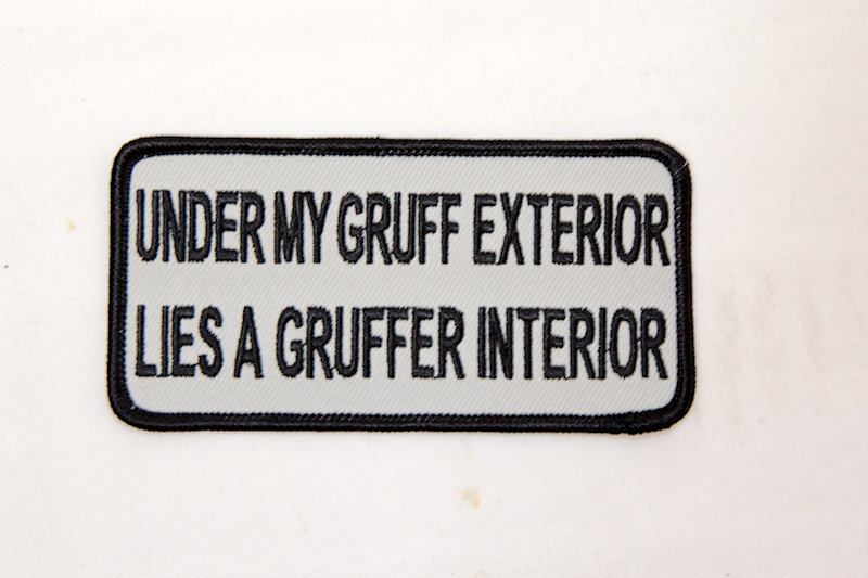 "copy of ""Gruff Exterior is"" Sew/iron on patch"