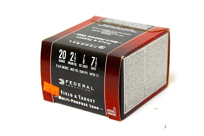 "Federal 20ga 2-1/2"" 7/8oz #7-1/2Shot"