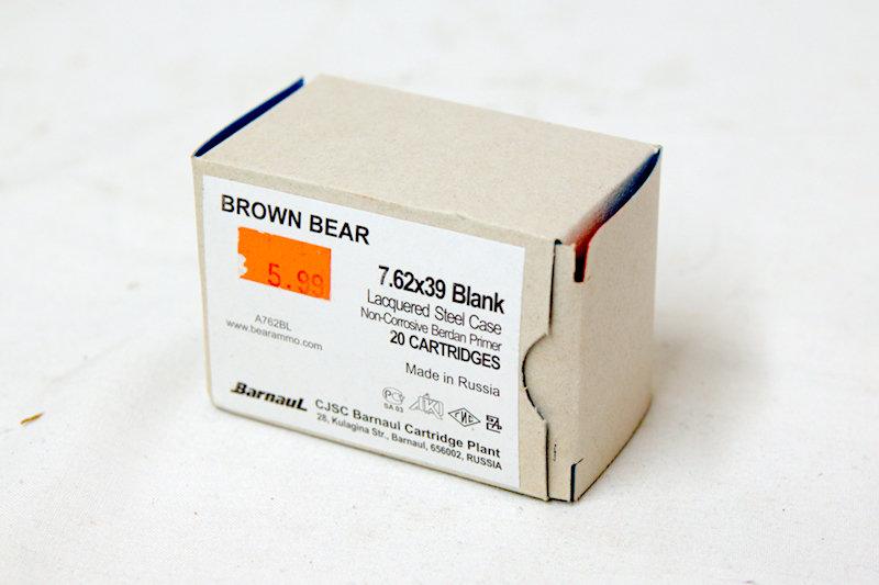 Brown Bear 7.62x39 Blank Steel Case