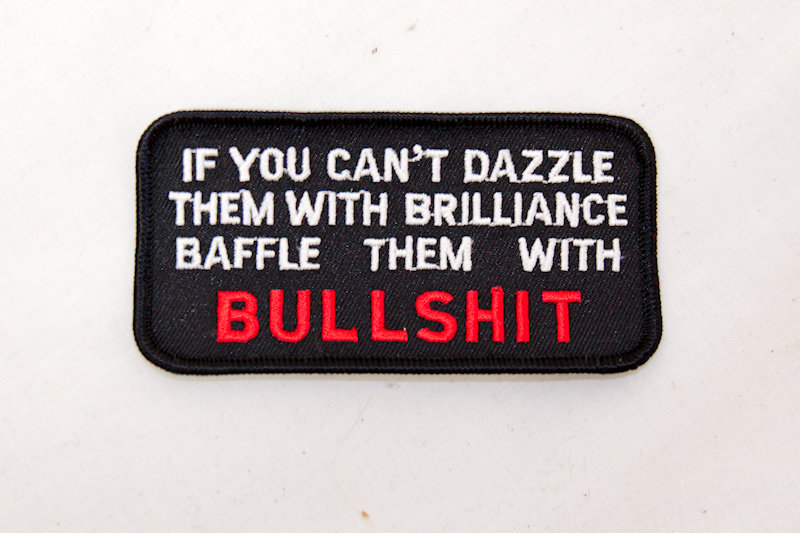 """If you can't Dazzle"" Sew/iron on patch"