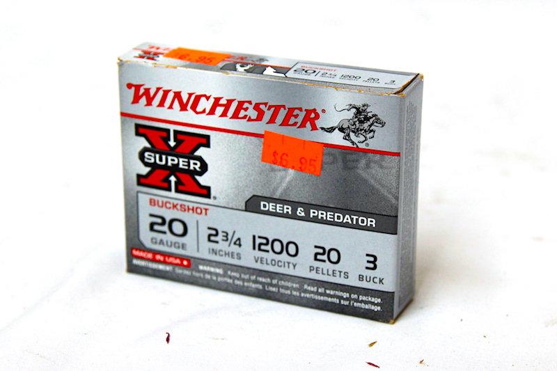 "Winchester Deer Shot 20ga 2-3/4"" 20 Pellet #3 buck"