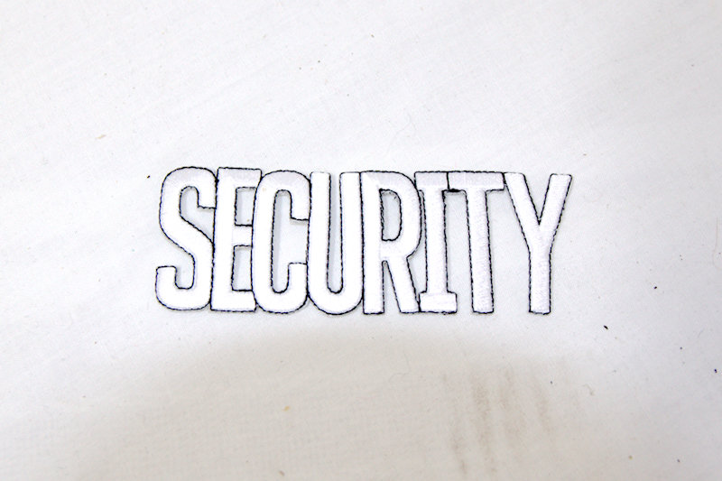 """Security"" Iron on patch"