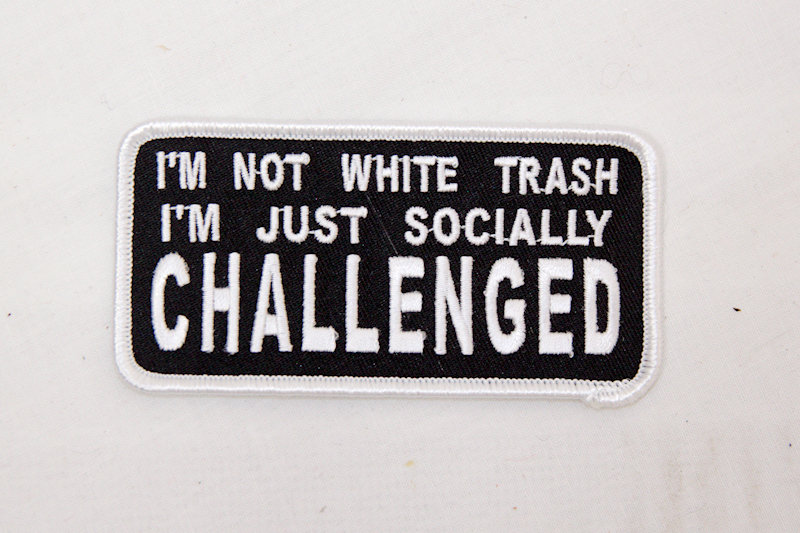 "Socially Challenged"" Sew/iron on patch"