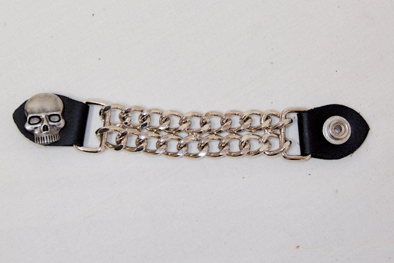 Skull Leath/Chain Vest Extender