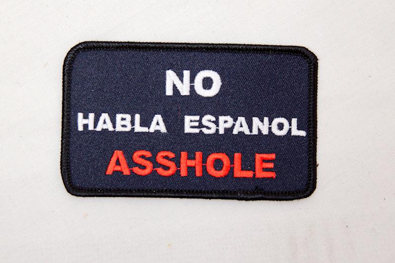 """No Habla"" Sew/iron on patch"