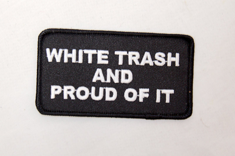 "'White Trash"" Sew/iron on patch"