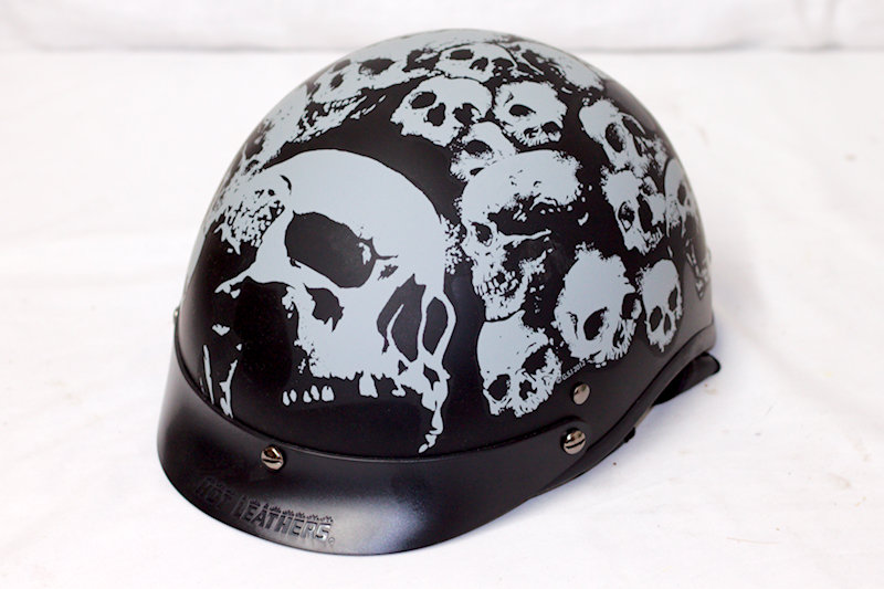 Hot Leathers X-Large Half Helmet. DOT cert