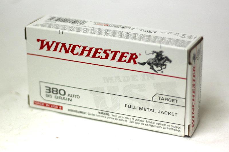 Winchester 380 Auto 95gr FMJ