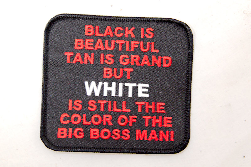 """Big Boss Man"" Sew/iron on patch"