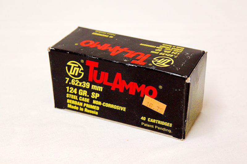 TulAmmo 7.62x39 124gr SP Steel Case
