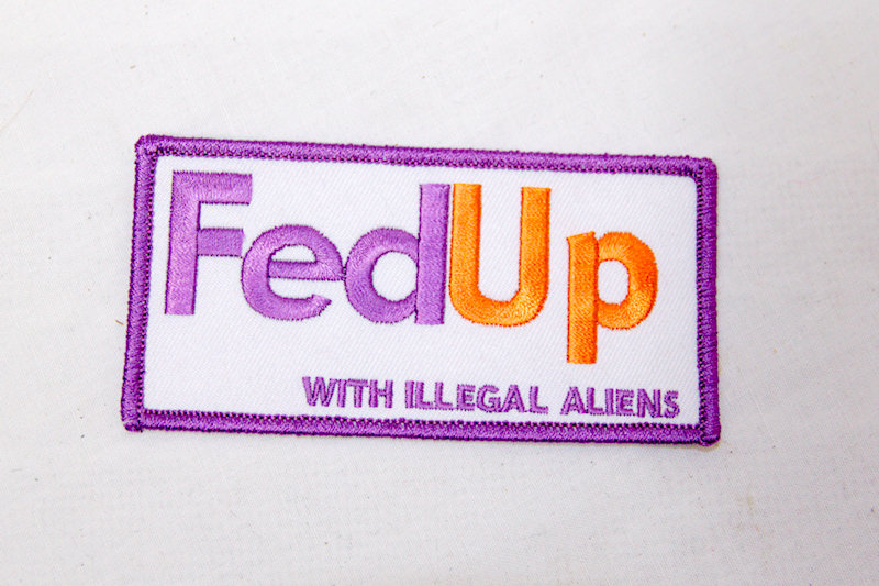 """FedUp"" Sew/iron on patch"