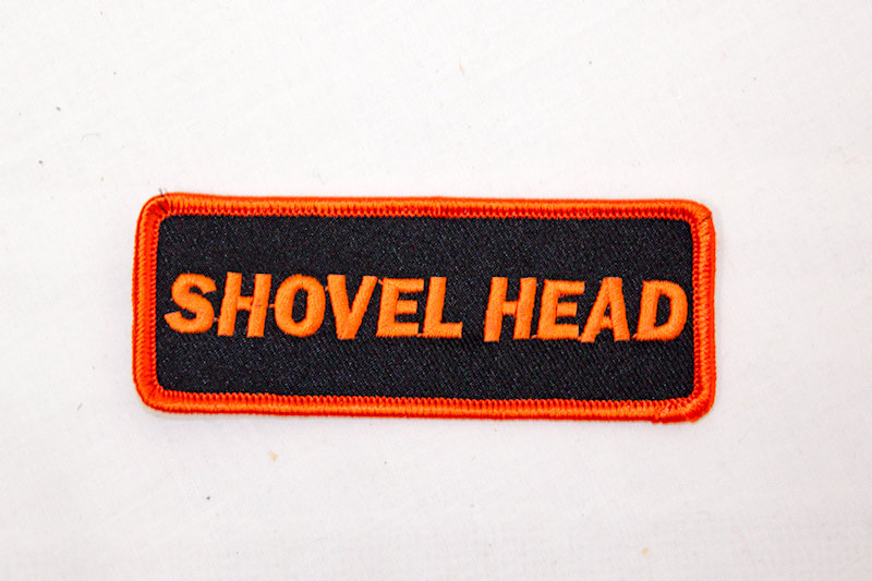 """Shovel Head"" Sew/iron on patch"