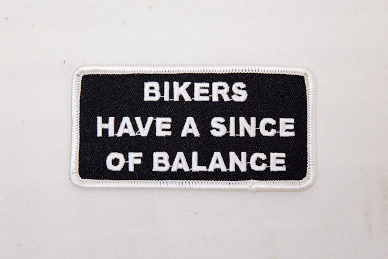 "Biker Balance"" Sew/iron on patch"