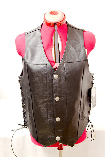Highway Hawks Leather Vests with two inside pocket