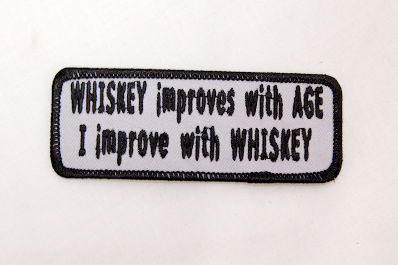 """Whiskey Improves with Age"""" Sew/iron on p"""
