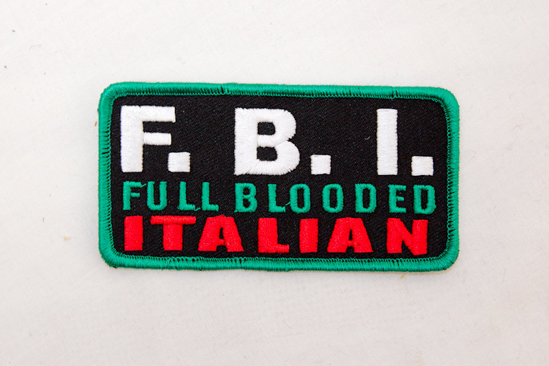 """F.B.I. Italian"" Sew/iron on p"