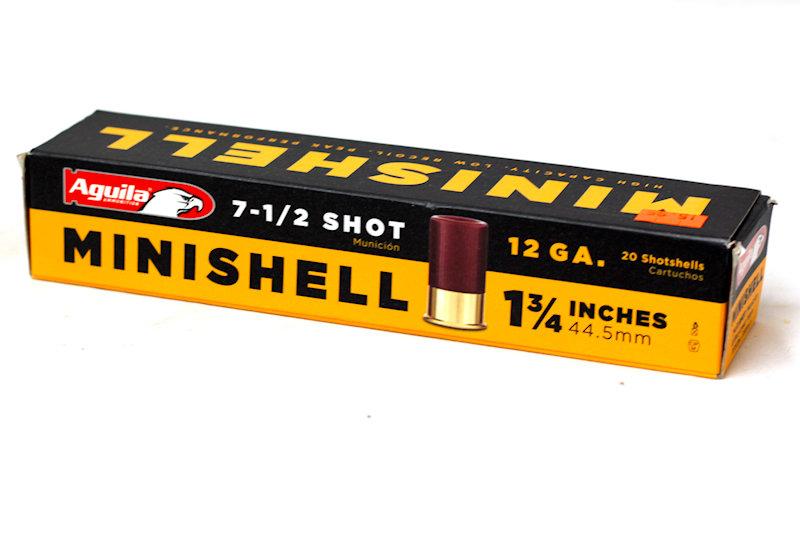 """Aguila Minishell 12ga 1-3/4"""" 5/8oz 7-1/2shot"""