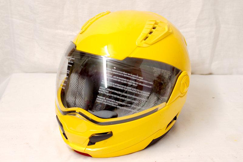 Full Face Hawk Large Yellow Helmet. DOT certified