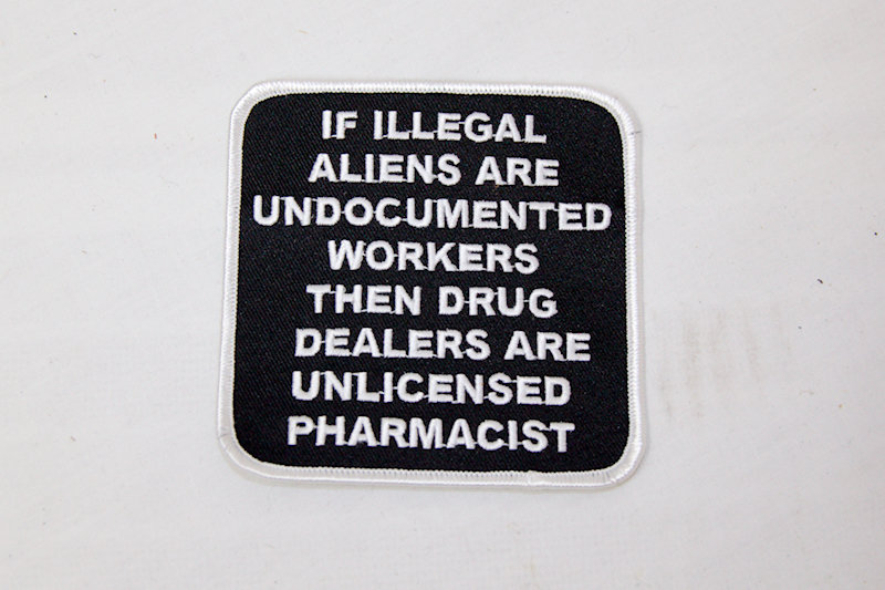 "Illegal and Pharmacist"" Sew/iron on patch"