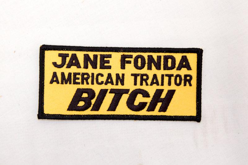 """Jane Fonda Traitor"" Sew/iron on p"