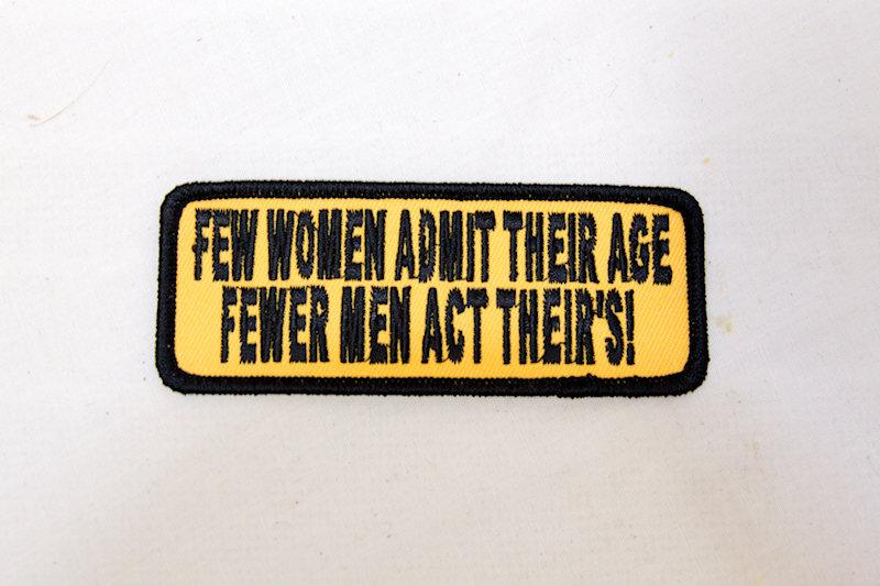 """Few women admit"" Sew/Iron on patch"