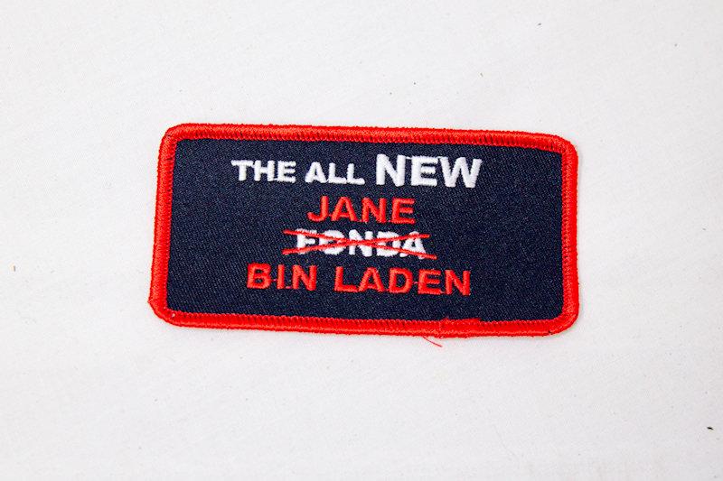 """Jane Bin Laden"" Sew/iron on patch"