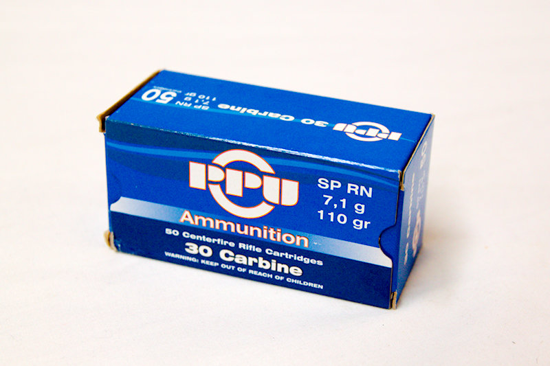 PPU 30 Carbine 110gr SP RN