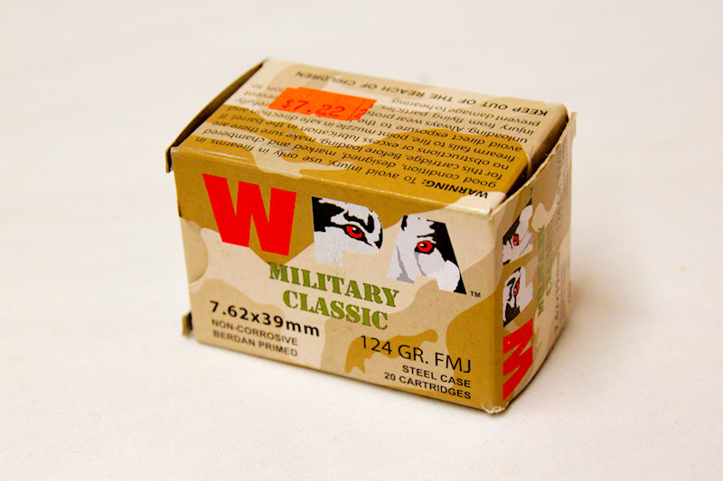 WPA Military Classic 7.62x39mm 124gr Steel Case