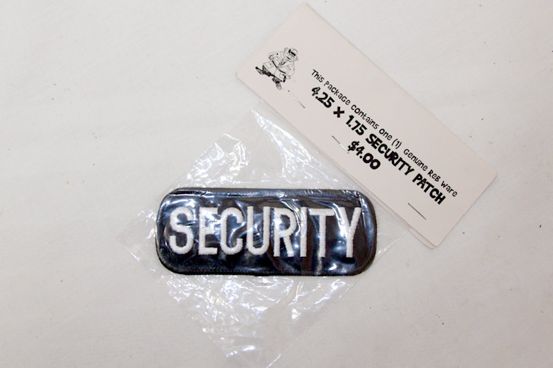 """Security"" Sew on patch"