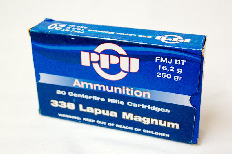 PPU 338 Lapua Mag 250gr FMJ BT