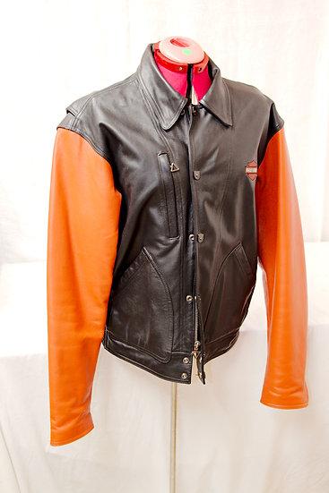 Harley Davidson Leather Jacket orange and Black