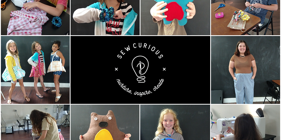 Back By Popular Demand - Sewing Summer Camp   August 16 - 20