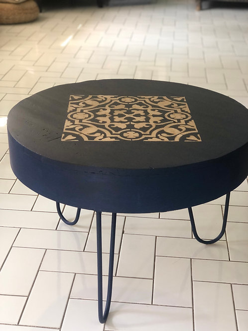 Prussian blue coffee table