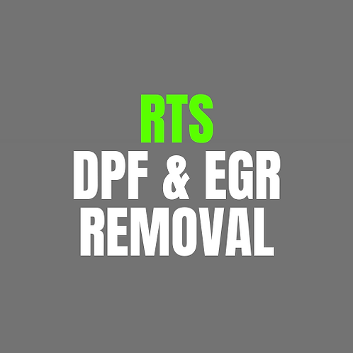 RTS Remap DPF & EGR Removal Only