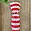 Thumbnail: Wine Bottle Gift Bag - Red + White